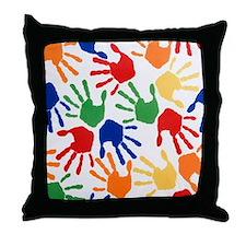 Back to School Handprint Throw Pillow
