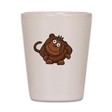 Monkey Flung Poo White Shot Glass