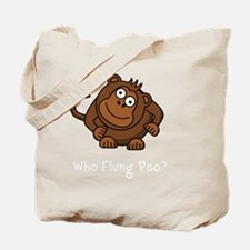 Monkey Flung Poo White Tote Bag