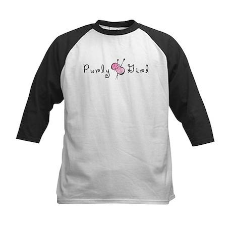 Purly Girl Kids Baseball Jersey