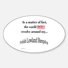 Lowland World Oval Decal