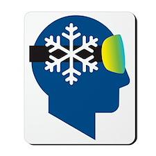 think snow blue2 Mousepad