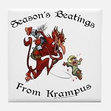krampusTeeColor Tile Coaster