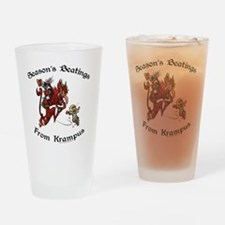 krampusTeeColor Drinking Glass
