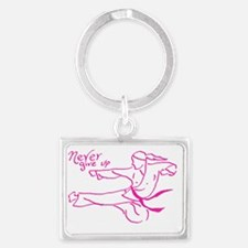 tae kwon do girl Landscape Keychain