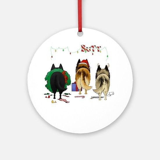 BelgianShirtDark Round Ornament