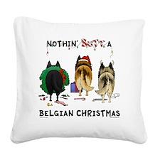 BelgianShirtLight Square Canvas Pillow
