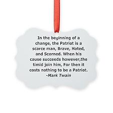The Patriot - Mark Twain Ornament