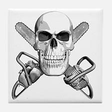 skull_chainsaws Tile Coaster