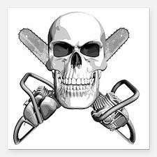 "skull_chainsaws Square Car Magnet 3"" x 3"""