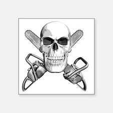 "skull_chainsaws Square Sticker 3"" x 3"""