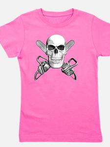 skull_chainsaws_sm Girl's Tee