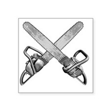 "chainsaws Square Sticker 3"" x 3"""