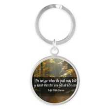 Leave A Trail Quote Round Keychain