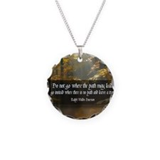 Leave A Trail Quote Necklace