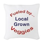 Fueled by Local Woven Throw Pillow
