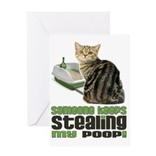 stealing my poop 11x14 Greeting Card