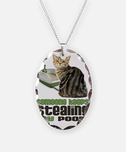 stealing my poop 11x14 Necklace