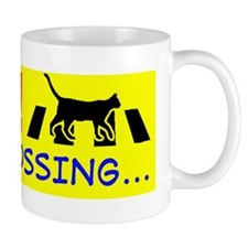 kitty crossing copy Mug