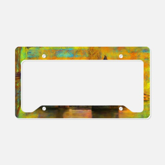 Unique Brown water License Plate Holder