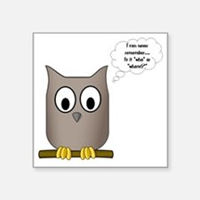 "OwlWhoWhom Square Sticker 3"" x 3"""