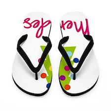 Christmas-tree-Mercedes Flip Flops