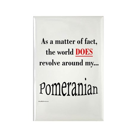 Pomeranians World Rectangle Magnet