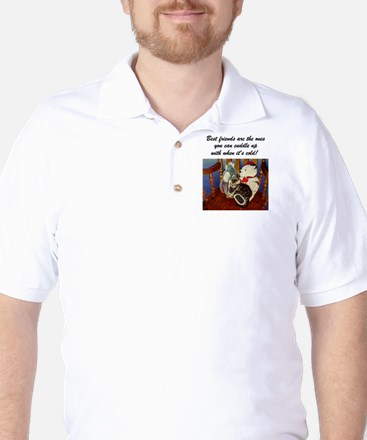 rocking with friends saying Golf Shirt