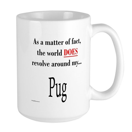Pug World Large Mug