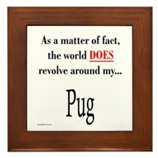 Pug World Framed Tile
