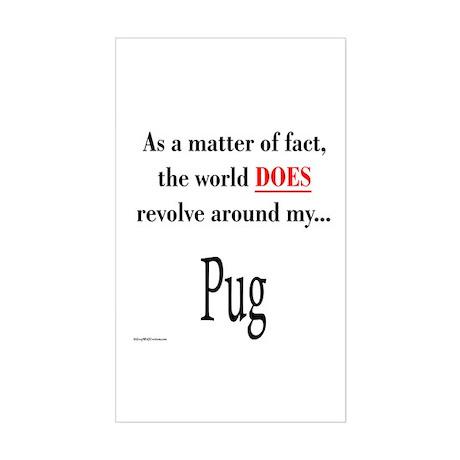 Pug World Rectangle Sticker