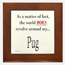 Pug World Framed Tile