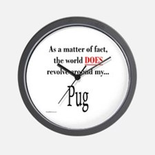 Pug World Wall Clock