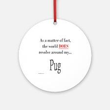 Pug World Ornament (Round)
