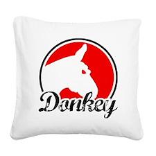 donkey2rw Square Canvas Pillow