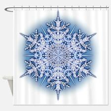 Snowflake Designs - 034 Shower Curtain
