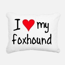 iheartengfoxhound Rectangular Canvas Pillow