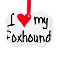 iheartengfoxhound Ornament