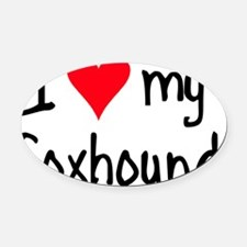 iheartengfoxhound Oval Car Magnet