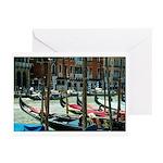 Gondolas at Rialto Greeting Cards