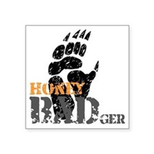 "honey-badger-1 Square Sticker 3"" x 3"""