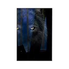 WolfWood3Ghard Rectangle Magnet