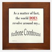 Coonhound World Framed Tile