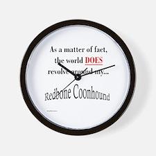 Coonhound World Wall Clock