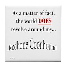 Coonhound World Tile Coaster