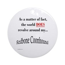 Coonhound World Ornament (Round)