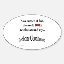 Coonhound World Oval Decal