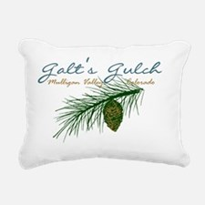 Galts Gulch Pine Branch Rectangular Canvas Pillow