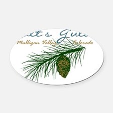 Galts Gulch Pine Branch Oval Car Magnet