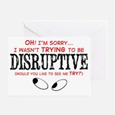 Disruptive_Red Greeting Card